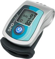 Product Photo: SPO Medical PulseOx 6000™ Finger Oximeter Unit, Universal Thimble Size, Easy-to-read illuminated LCD with bi-directional readings