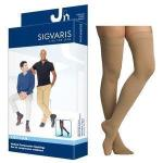 Cotton Comfort Men's Thigh-High Compression Stockings Grip-Top Large Long, Crispa - Item #: SG232NLLM66