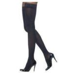 Sigvaris Soft Opaque Women's Thigh-High Compression Stockings with Grip-Top, Medium Long, Midnight Blue